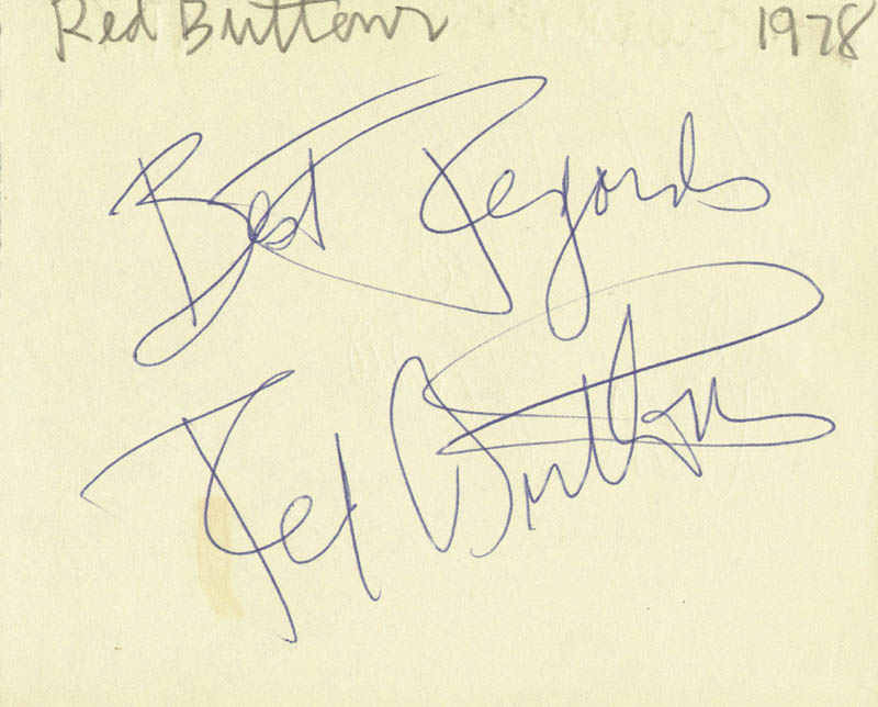 Image 1 for Red Buttons - Autograph Sentiment Signed 1978 co-signed by: Don Lurio - HFSID 74570
