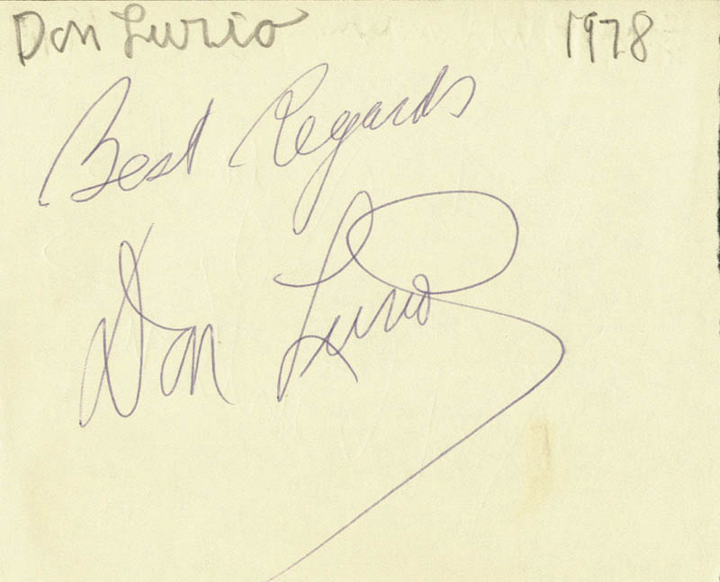 Image 3 for Red Buttons - Autograph Sentiment Signed 1978 co-signed by: Don Lurio - HFSID 74570