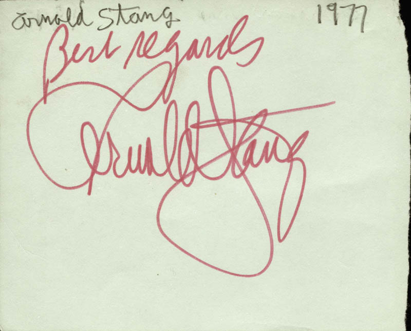 Image 1 for Arnold Stang - Autograph Circa 1977 co-signed by: Don Saxon - HFSID 74575