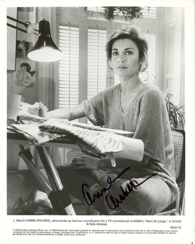 Image 1 for Anne Archer - Autographed Signed Photograph - HFSID 74621