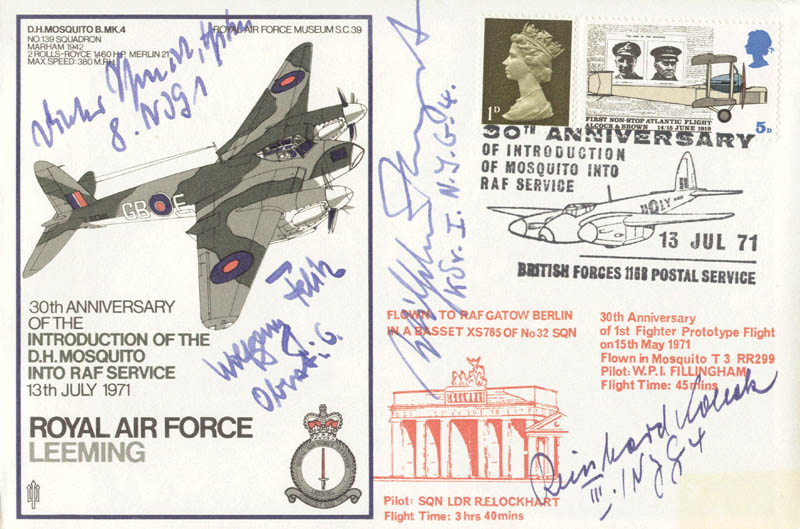 Image 1 for Wolfgang Falck - Commemorative Envelope Signed co-signed by: Dieter Schmidt, Wilhelm Herget, Reinhard Kollak - HFSID 74810