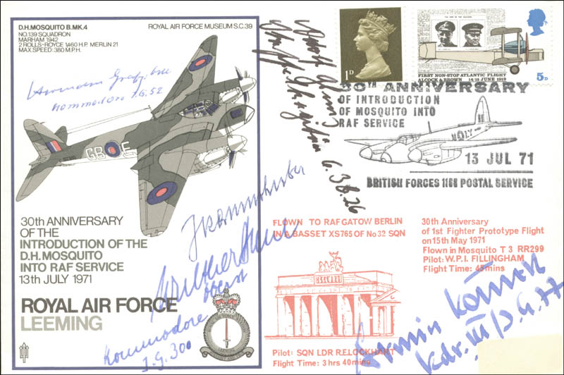 Image 1 for Colonel Hermann Graf - Commemorative Envelope Signed with co-signers - HFSID 74822