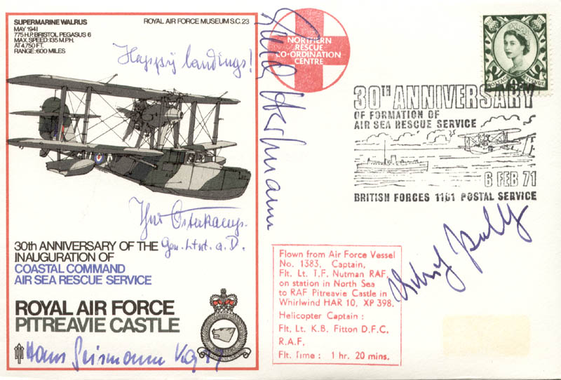 Image 1 for Colonel Erich 'Bubi' Hartmann - Commemorative Envelope Signed with co-signers - HFSID 74832