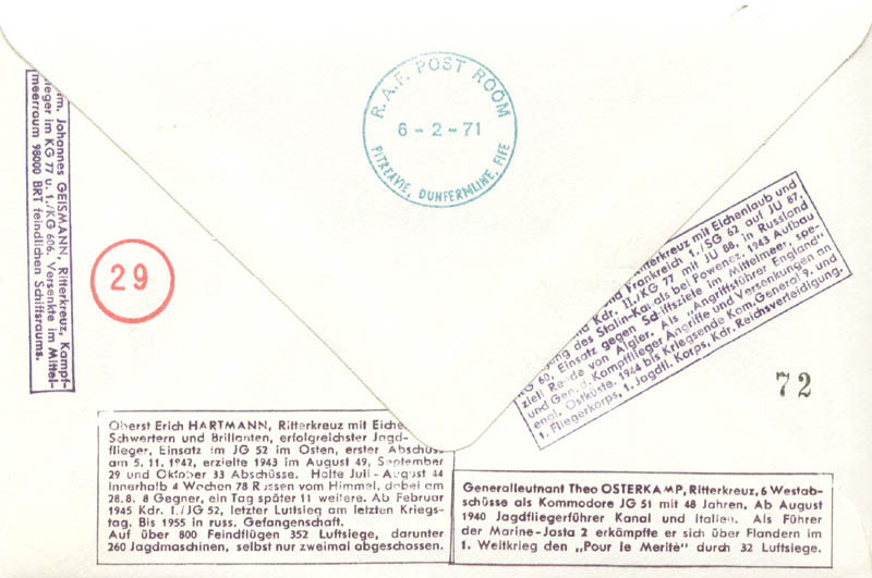 Image 3 for Colonel Erich 'Bubi' Hartmann - Commemorative Envelope Signed with co-signers - HFSID 74832
