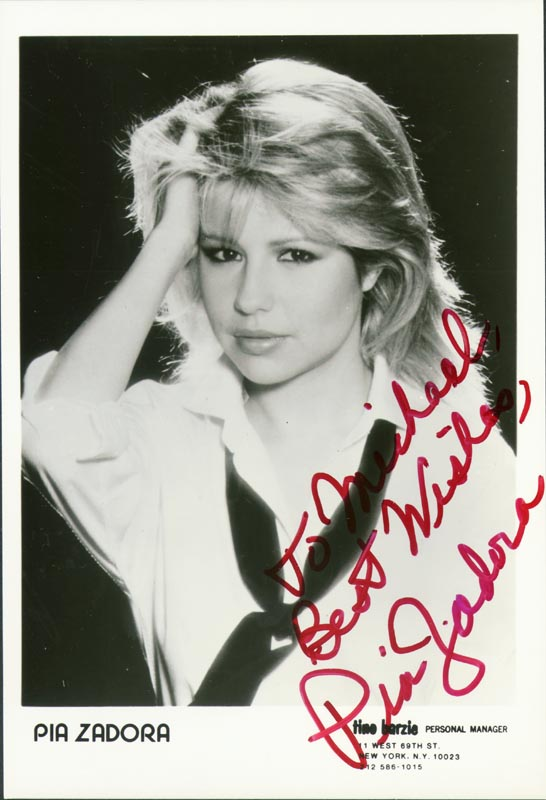 Image 1 for Pia Zadora - Inscribed Printed Photograph Signed In Ink - HFSID 75003
