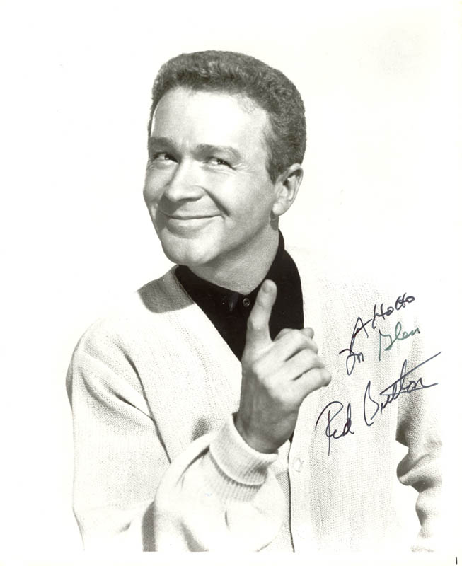 Image 1 for Red Buttons - Autographed Inscribed Photograph - HFSID 75089