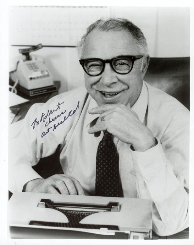 Image 1 for Art Buchwald - Autographed Inscribed Photograph - HFSID 75125