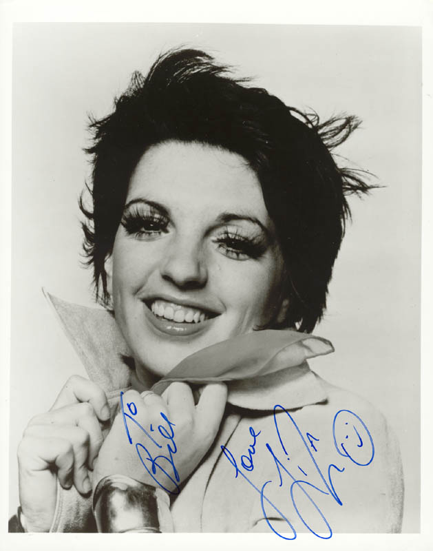Image 1 for Liza Minnelli - Autographed Inscribed Photograph - HFSID 75270