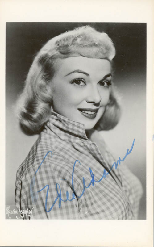Image 1 for Edie Adams - Picture Post Card Signed - HFSID 75483