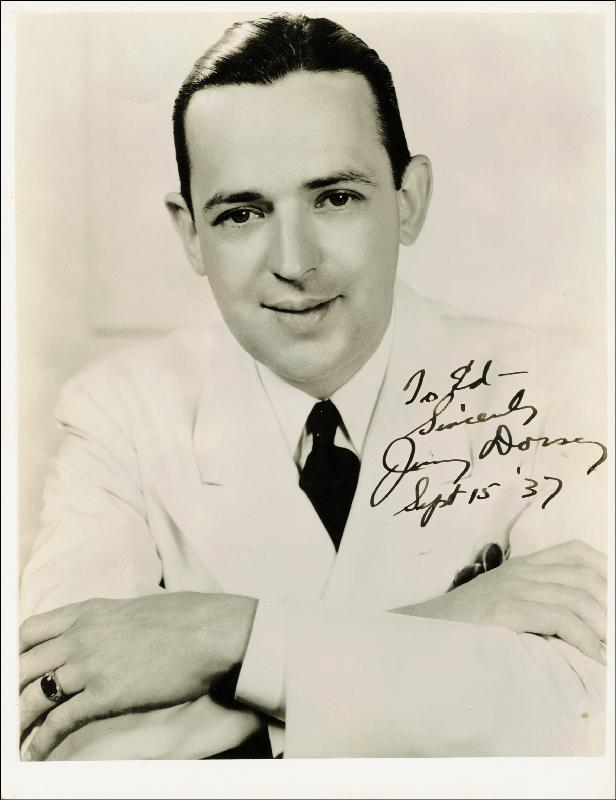 Image 1 for Jimmy Dorsey - Autographed Inscribed Photograph 09/15/1937 - HFSID 755