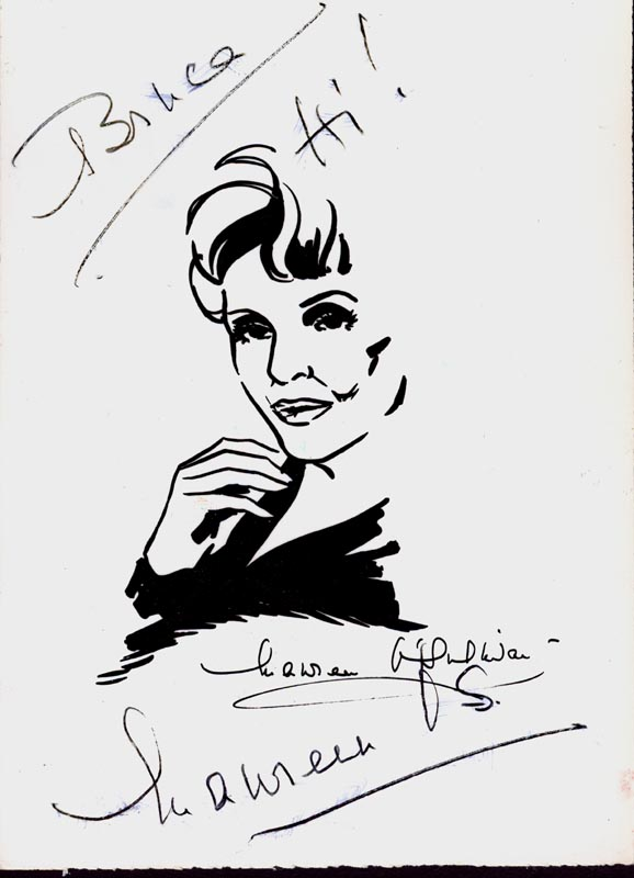 Image 1 for Maureen O'Sullivan - Inscribed Printed Art Signed In Ink Circa 1975 - HFSID 75692