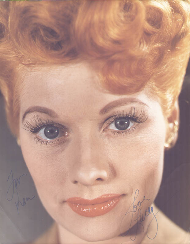Image 1 for Lucille 'Lucy' Ball - Autographed Inscribed Photograph - HFSID 76021