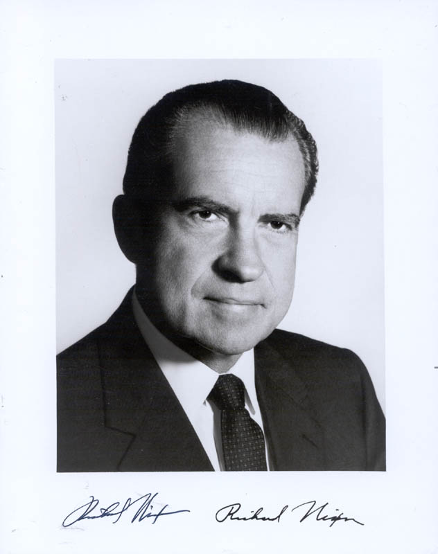 Image 1 for President Richard M. Nixon - Autographed Signed Photograph 09/28/1969 - HFSID 76148