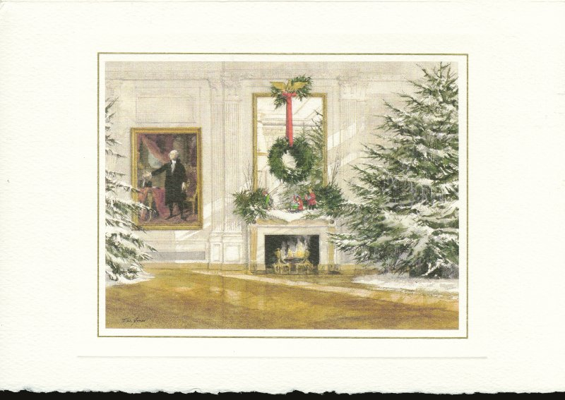 Image 3 for President Ronald Reagan - White House Christmas Card Signed 08/04/1987 co-signed by: First Lady Nancy Davis Reagan - HFSID 76187