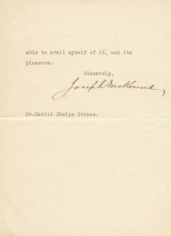 Image 1 for Associate Justice Joseph Mckenna - Typed Letter Signed 10/27/1923 - HFSID 76206