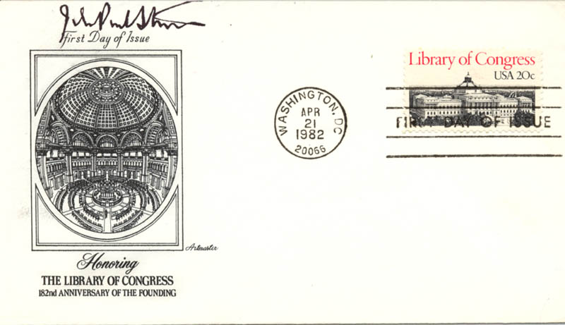 Image 1 for Associate Justice John Paul Stevens - First Day Cover Signed - HFSID 76226