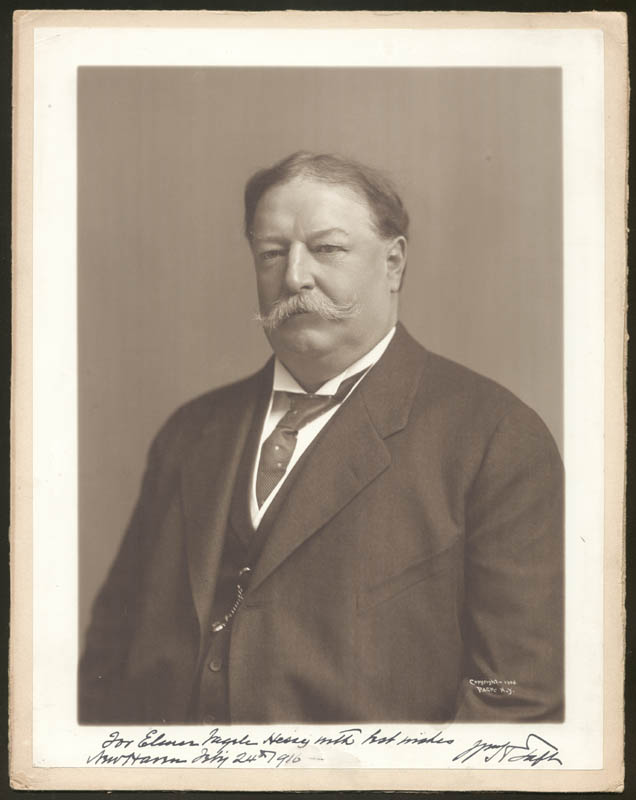 Image 1 for President William H. Taft - Autographed Inscribed Photograph 02/24/1916 - HFSID 76232