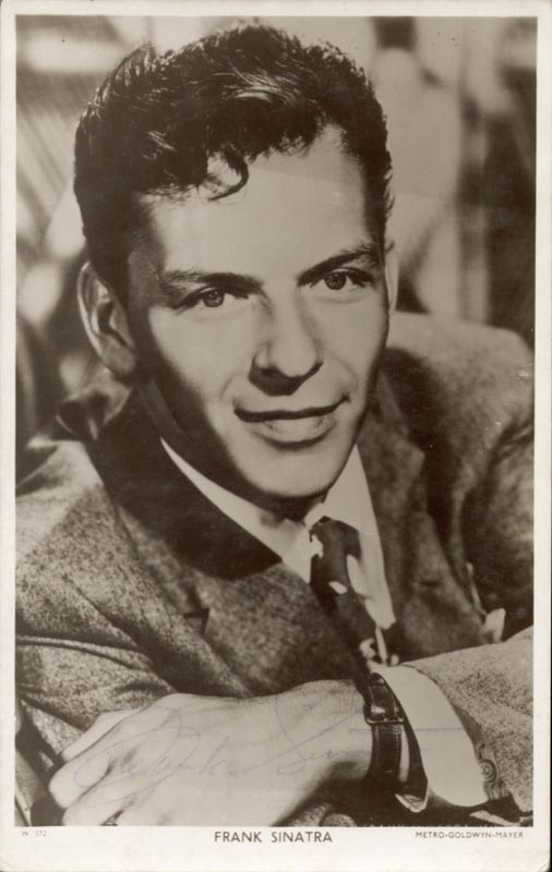 Image 1 for Frank Sinatra - Picture Post Card Signed - HFSID 76391