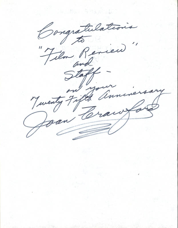 Image 1 for Joan Crawford - Autograph Note Signed - HFSID 76427