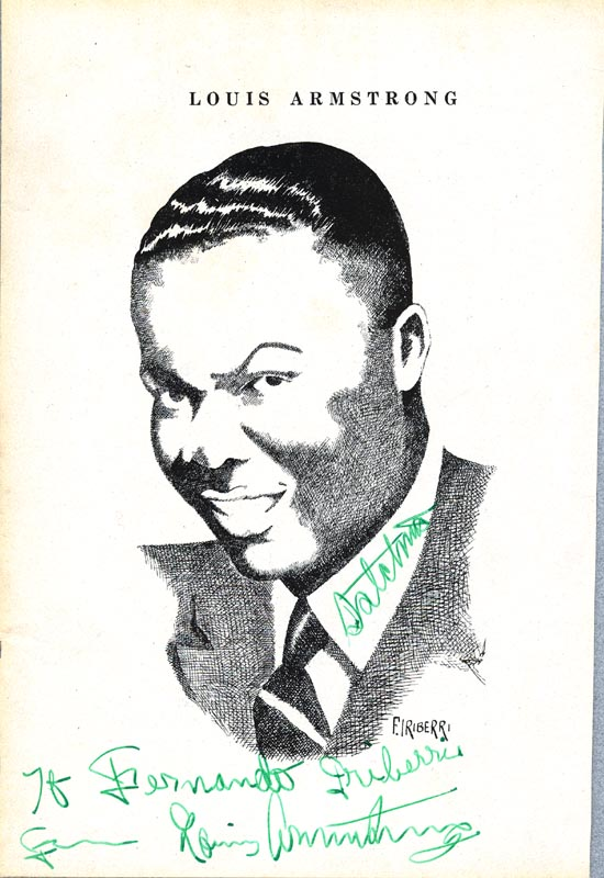 Image 1 for Louis 'Satchmo' Armstrong - Inscribed Illustration Signed - HFSID 76492