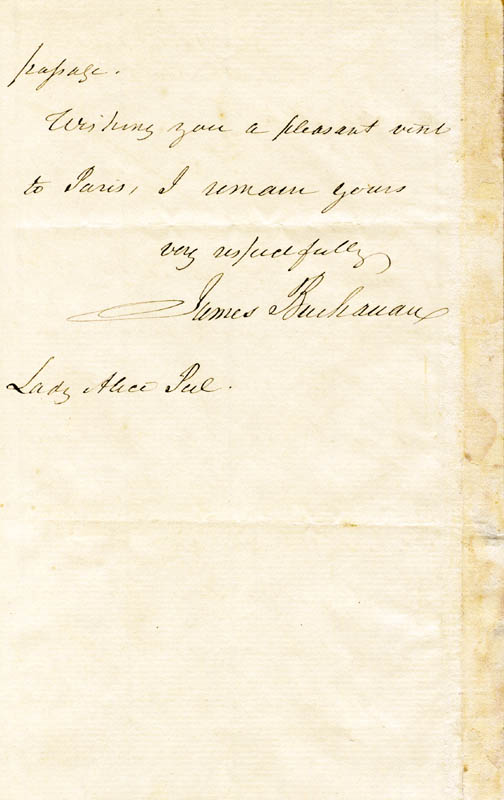 Image 3 for President James Buchanan - Autograph Letter Signed 11/13/1855 - HFSID 76509