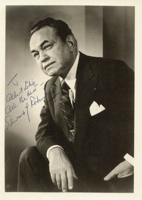 Image 1 for Edward G. Robinson - Autographed Inscribed Photograph - HFSID 76536