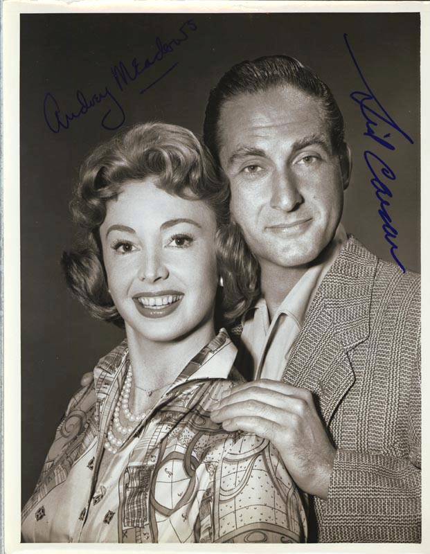 Circa 1959 co signed by sid caesar audrey meadows document 76653
