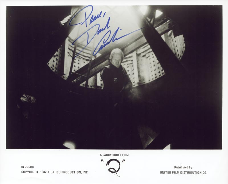 Image 1 for David Carradine - Autographed Signed Photograph - HFSID 76800
