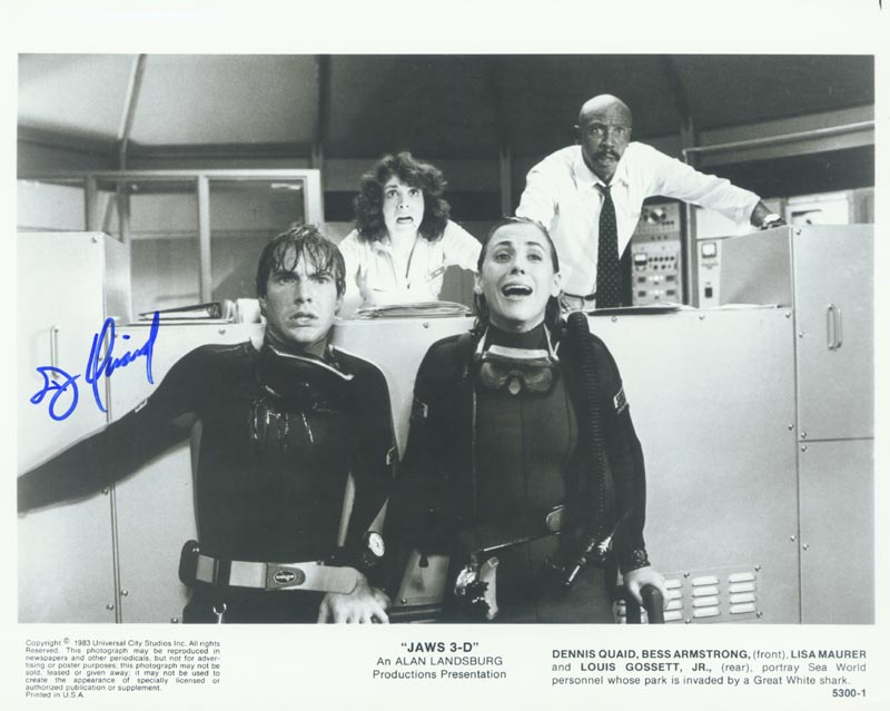 Image 1 for Dennis Quaid - Autographed Signed Photograph - HFSID 77046