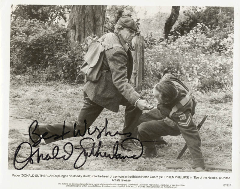 Image 1 for Donald Sutherland - Autographed Signed Photograph - HFSID 77082