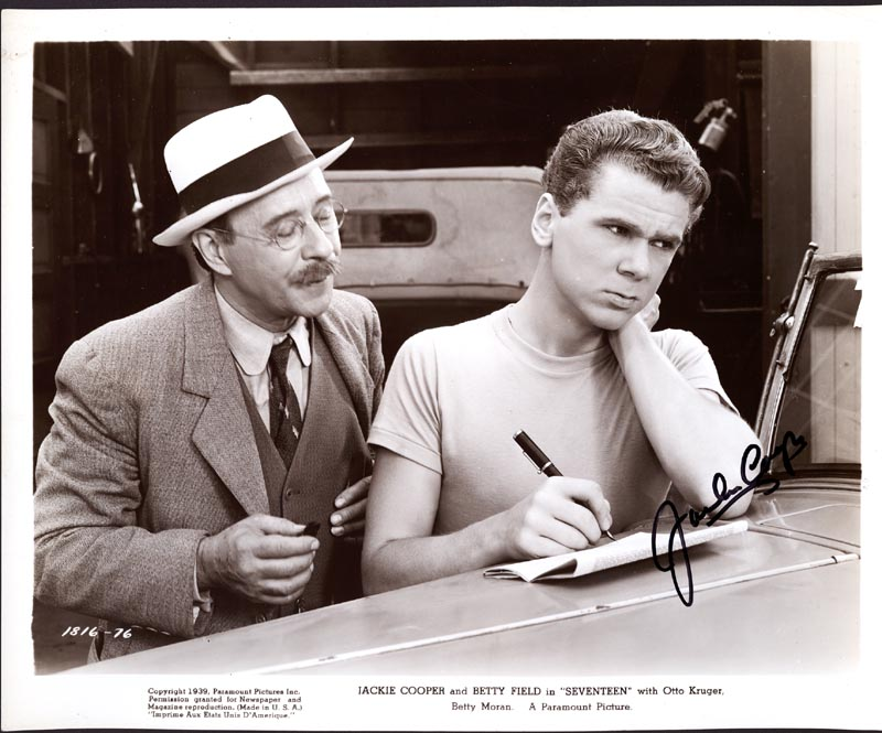 Image 1 for Jackie Cooper - Autographed Signed Photograph - HFSID 77296