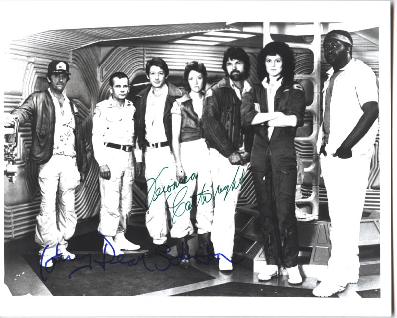 Image 1 for Alien Movie Cast - Autographed Signed Photograph co-signed by: Harry Dean Stanton, Veronica Cartwright - HFSID 77638