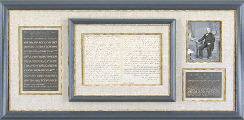 Image 1 for Chief Justice Salmon P. Chase - Manuscript Letter Signed 07/04/1870 - HFSID 77745
