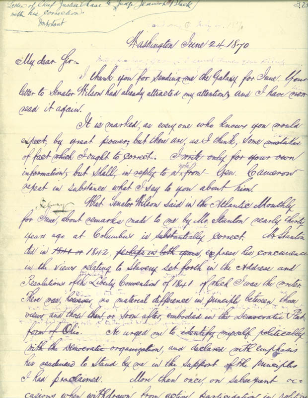 Image 3 for Chief Justice Salmon P. Chase - Manuscript Letter Signed 07/04/1870 - HFSID 77745