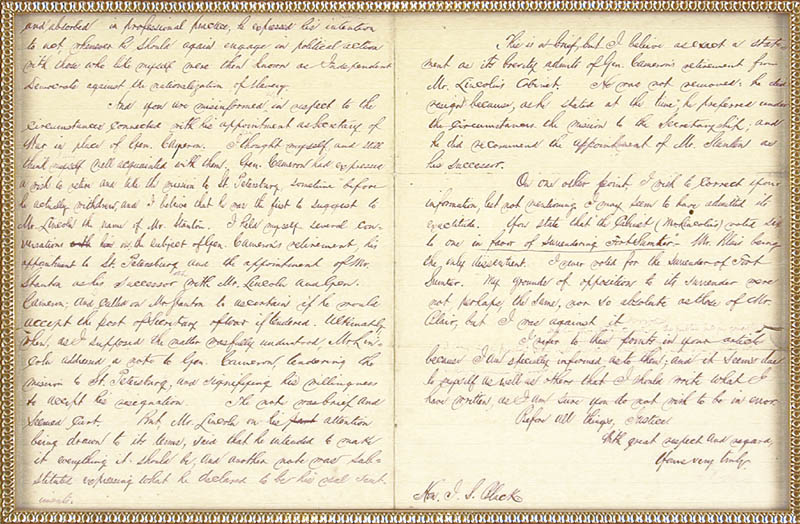 Image 4 for Chief Justice Salmon P. Chase - Manuscript Letter Signed 07/04/1870 - HFSID 77745
