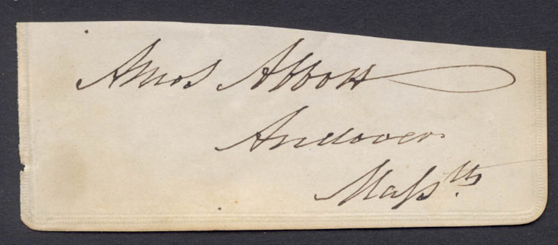 Image 1 for Amos Abbott - Clipped Signature - HFSID 78224
