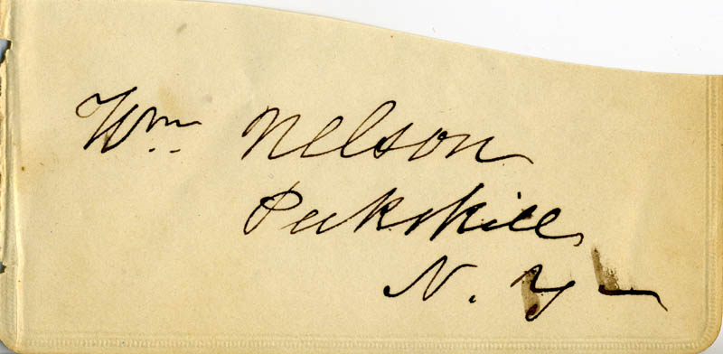 Image 1 for William Nelson - Autograph - HFSID 78262