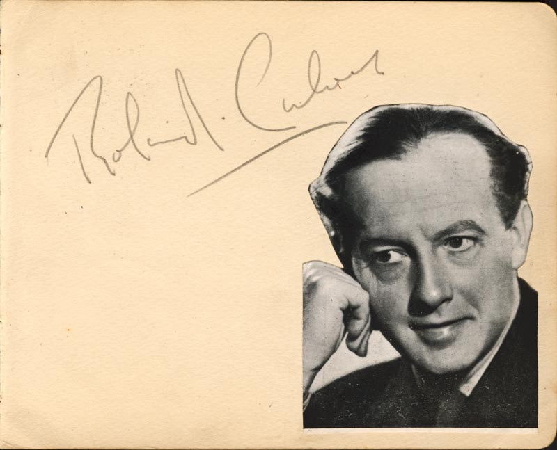 Image 1 for Roland Culver - Autograph co-signed by: Stanley Burger - HFSID 78475