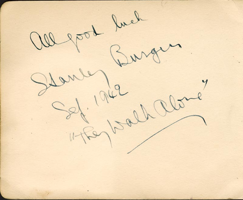Image 3 for Roland Culver - Autograph co-signed by: Stanley Burger - HFSID 78475