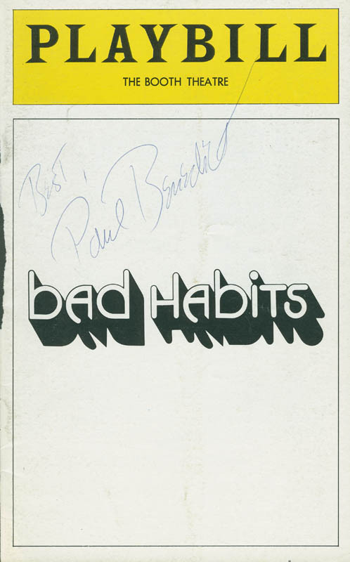 Image 1 for Paul Benedict - Show Bill Cover Signed - HFSID 78808