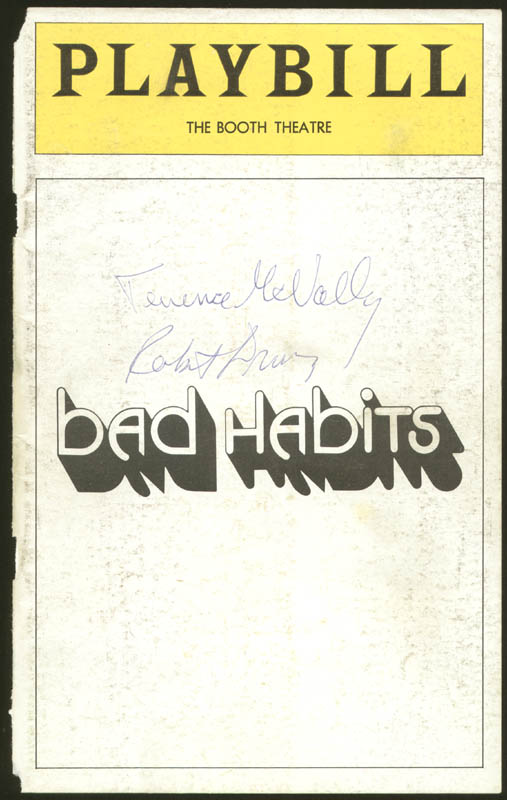 Image 1 for Terrence Mcnally - Show Bill Signed co-signed by: Robert Drivas - HFSID 78838