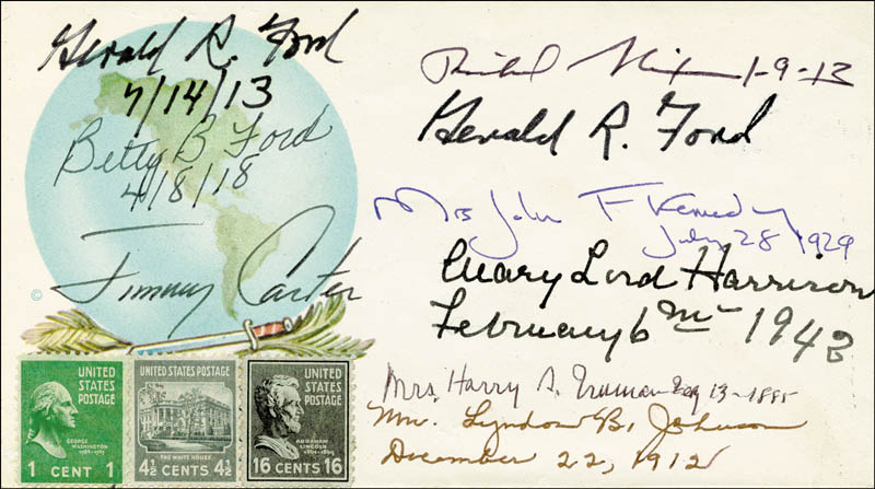 Image 1 for The Three Presidents - Commemorative Envelope Signed with co-signers - HFSID 78967