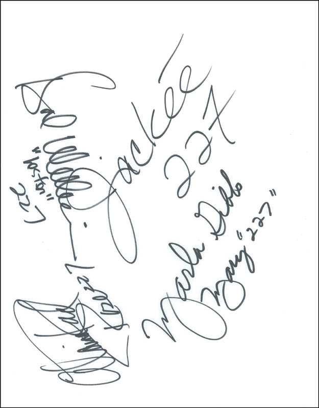 Image 1 for 227 TV Cast - Autograph co-signed by: Hal Williams, Marla Gibbs, Alaina Reed Hall, Jackee Harry - HFSID 78990