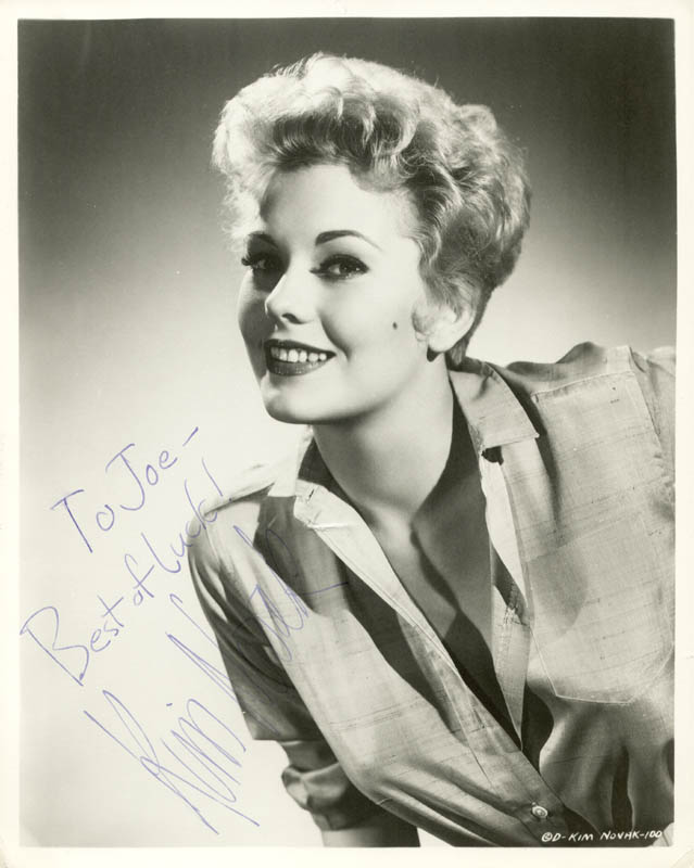 Image 1 for Kim Novak - Autographed Inscribed Photograph - HFSID 79040
