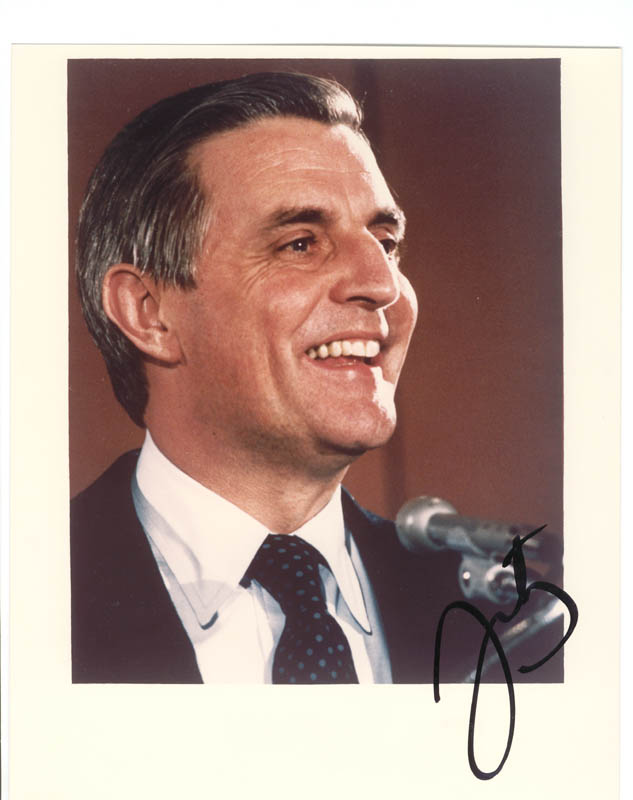 Image 1 for Vice President Walter F. Mondale - Autographed Signed Photograph - HFSID 79253