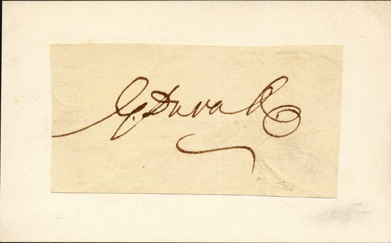 Image 1 for Associate Justice Gabriel Duvall - Autograph - HFSID 79274