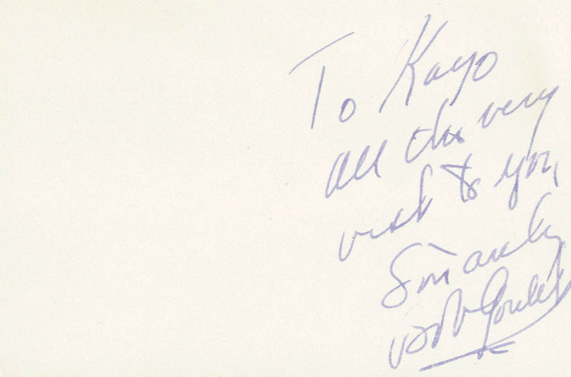 Image 1 for Robert Goulet - Autograph Note Signed - HFSID 79286
