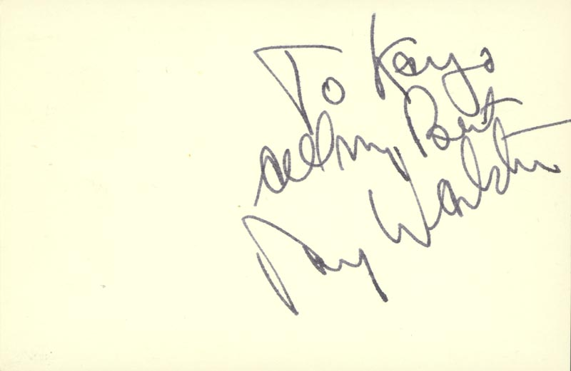 Image 1 for Ray Walston - Autograph Note Signed - HFSID 79350