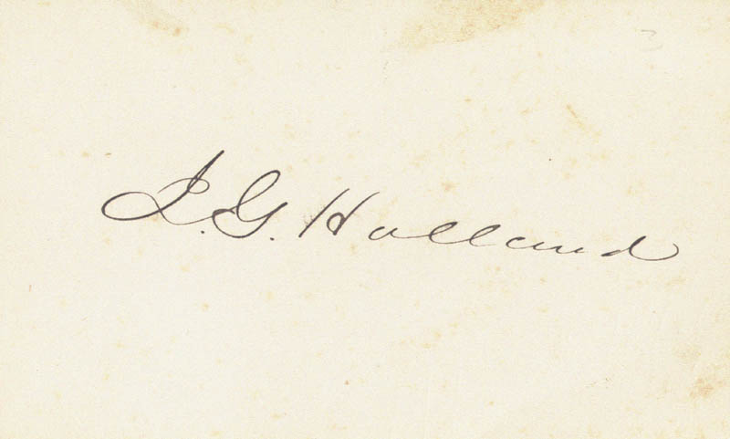 Image 1 for Josiah Gilbert Holland - Autograph - HFSID 79486