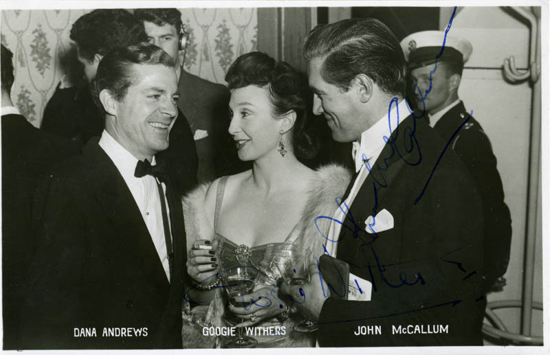 Image 1 for John Mccallum - Printed Photograph Signed In Ink co-signed by: Googie Withers - HFSID 79806